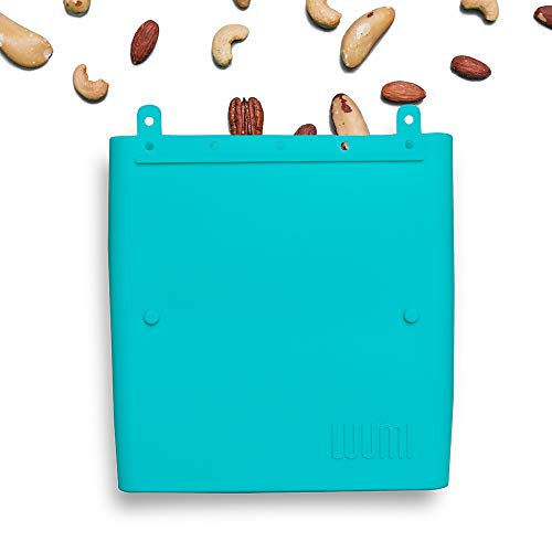 - Luumi Unplastic Bag - Resuable 100% Platinum Silicone Collapsible Food Storage Bags for Lunch and Snacks - Microwave, Oven, Freezer and Dishwasher Safe (Teal)