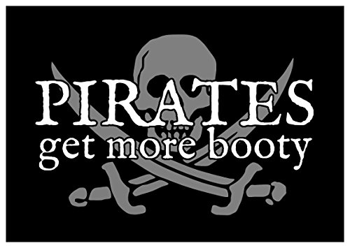 New Paper Sticker Pirates Get More Booty Cute Funny Sexy Adult Gift Joke All the ()