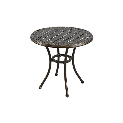 Niles Park 30 in. Round Cast Top Patio Bistro Table by Niles Park