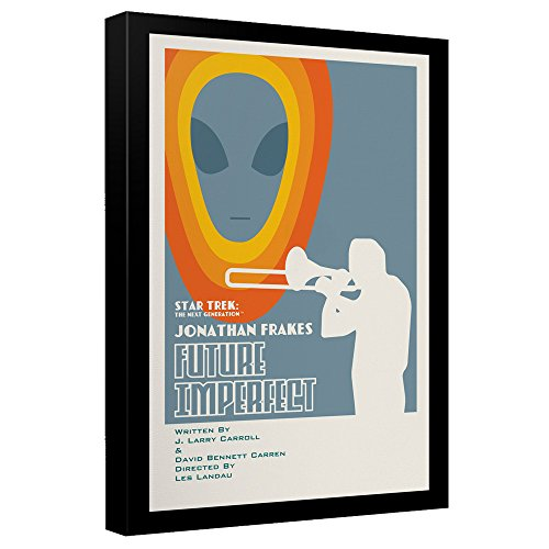 Tng Poster - Star Trek TNG Season 4 Ep. 8 Episode Art - Stretched Canvas Framed Artwrap, 12x16