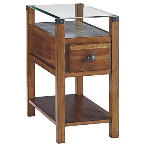 (Ashley Furniture Signature Design - Diamenton Chairside End Table - Medium Brown)