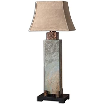 Uttermost 37 Inch Tall Slate Tall Table Lamp Tall Floor