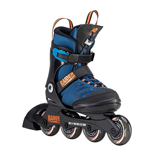 K2 Skate Youth Raider Pro Inline Skates, Blue/Orange ()