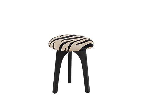 J line sgabello rotondo pelle zebra nero amazon casa e cucina