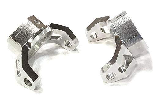 (Integy RC Model Hop-ups C26392SILVER Billet Machined Caster Blocks for HPI 1/10 Scale Crawler King)
