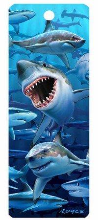3d Bookmark - Sharks - Cheatwell Games]()