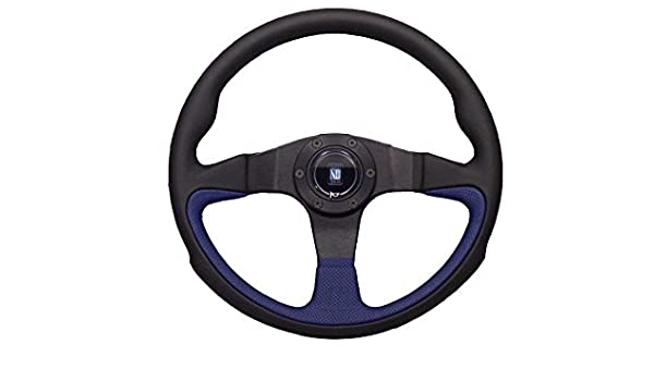 350 mm Nardi Challenge Steering Wheel Black and Red Perforated Leather
