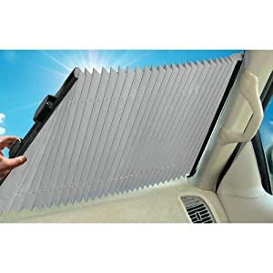 "Dash Designs The Shade Retractable Windshield Sunshade, 23"" (SV03)"