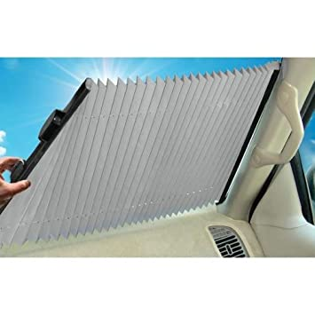 Dash Designs The Shade Retractable Windshield Sunshade  23 quot. Amazon com  Dash Designs The Shade Retractable Windshield Sunshade
