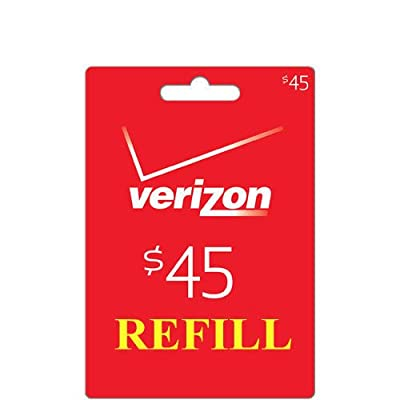 Verizon $45 Prepaid Refill PIN Monthly Plan / Pay As You Go No Annual Contract
