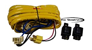 41uCTsRi6bL._SX300_ amazon com h4 relay wire harness for 2 headlight vehicles jeep xj headlight wiring harness upgrade at arjmand.co