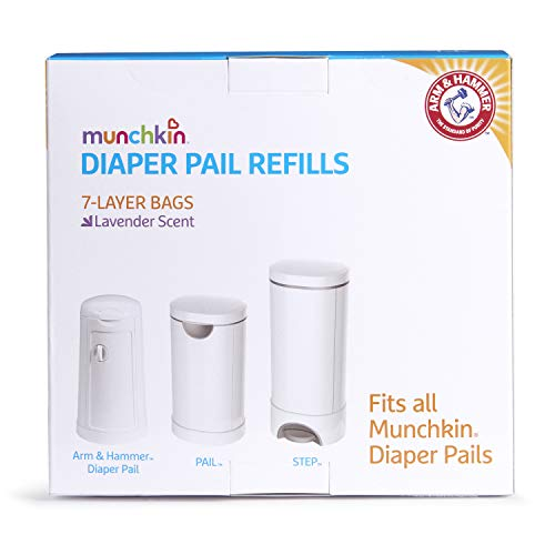 41uCTv4ZugL - Munchkin Arm & Hammer Diaper Pail Snap, Seal And Toss Refill Bags, Holds 600 Diapers, 20 Count