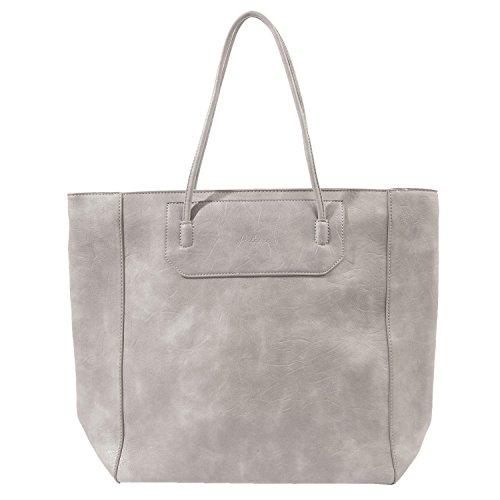 """Clayre & Eef JZBG0072G Tasche """"Florence"""" grau 32x14x35 cm in Landhausstil, Vintage Deco"""