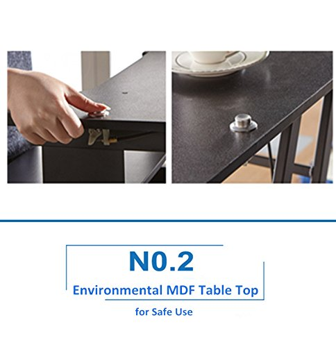 Mophorn Height Adjustable Standing Desk 2 Dual Monitors 31 Inch Wide Sit Stand Desk Riser 88Lbs Capacity Stand Up Desk Converter with Dedicated Keyboard Tray Elevating Desktop Riser Black by Mophorn (Image #5)