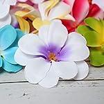 pleasantlyday-50-Pieces-White-Artificial-Hawaiian-Plumeria-Frangipani-Silk-Flowers-HeadsPink