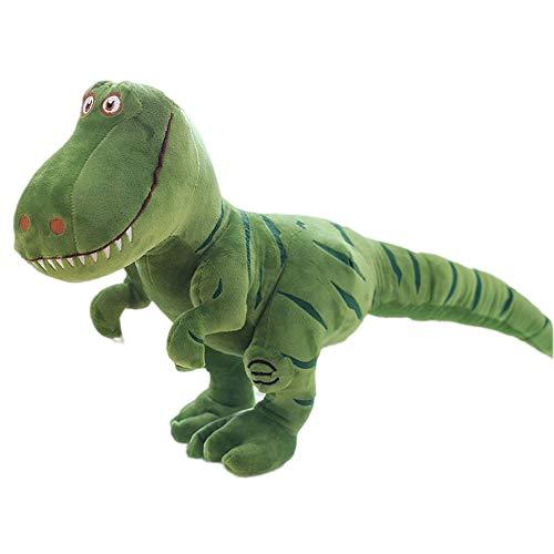 (fantastic_008 Dinosaur Plush Toy-T-Rex Tyrannosaurus Stuffed Animal Boy Girl Birthday Gift,Themed Party Supply and Decoration-Green-15.75 x 15.75Inches)