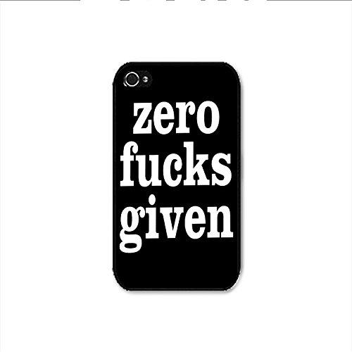 Zero Fucks Given Black iPhone 4 Case, Zero Fucks Given Black iPhone 4s Case Shipp From US
