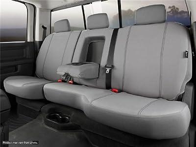 Fia SP82-50 GRAY Custom Fit Rear Seat Cover Split Seat 60/40 - Poly-Cotton, (Gray)