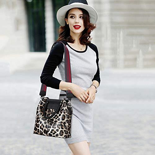 borsa spalla a donna stampa Borsa Borse donna per luminose leopardo 1xq17X4