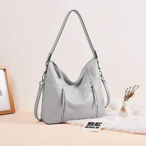Women Soft Genuine Leather Hobo Handbags Designer Top Handle Tote Large Purses Fashion Ladies Shoulder Bag