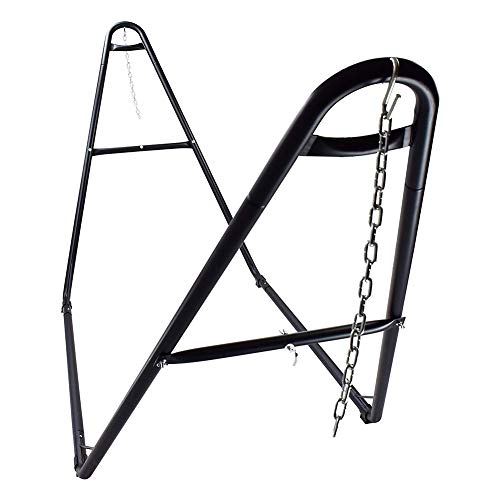 ValleyRay Adjustable Universal Steel Hammock Stand with Carry Bag, 2 Person Multi-Use Heavy-Duty Hammock Frame, Fits Hammocks 9 to 14 Feet Long Great for Indoor Outdoor Yard Patio Deck