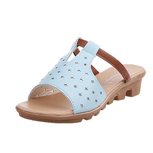 de diapositivas deslizadores playa mujeres de Internet Zapatos la los las Azul de de de las verano Zapatillas dSwTq11