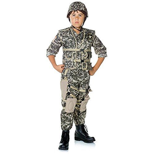 When I Grow Up Costume (Underwraps Children's Deluxe Army Ranger Costume - Camouflage, Medium)