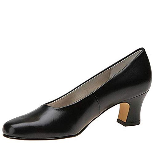 Mark Lemp Classics Womens Classic Vicki Leather Closed Toe, Black, Size 9.0 from Mark Lemp Classics