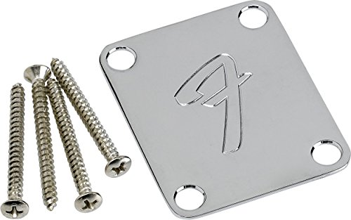 (Fender F Neckplate Chrome )
