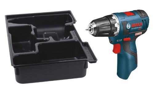 Universal Insert Tray - Bosch PS32BN Bare-Tool 12-volt Max Brushless 3/8-Inch Drill/Driver with Insert Tray for L-Boxx