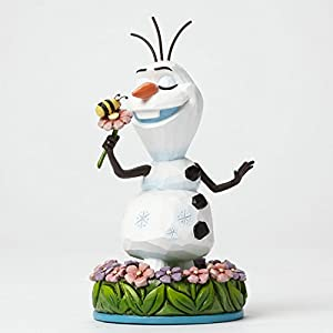 Disney Traditions Frozen Olaf with Flowers Figurine