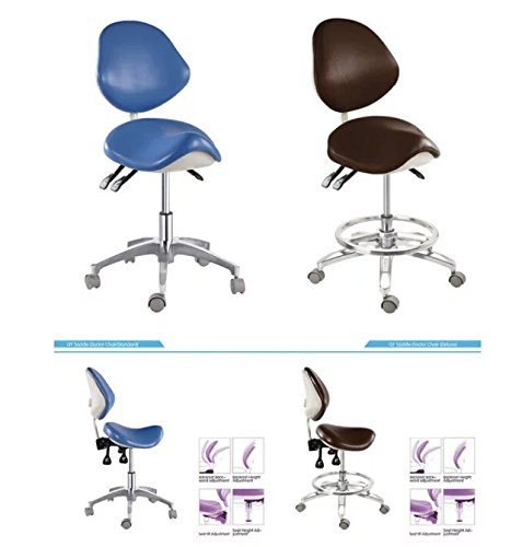 APHRODITE Standard Dental Mobile Chair Saddle Doctor's Stool Micro Fiber Leather Dentist from Aries Outlets by Aphrodite