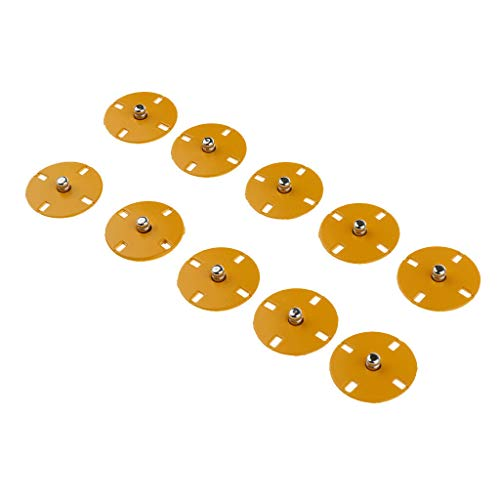 (5 Sets Colorful Metal Press Stud Buttons Snap Fasteners Poppers for Sewing Craft (Size - 25mm Yellow))