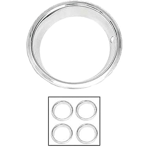 Eckler's Premier Quality Products 85-360872 Nova Or Chevy II Rally Wheel Trim Ring Set, 14 x 7