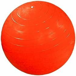 "CanDo Non-Slip Super Thick Inflatable Exercise Ball, Orange, 21.6"""