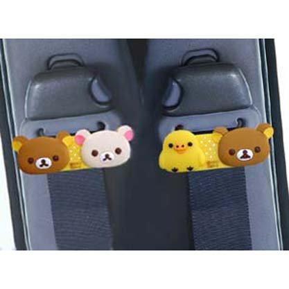 Seat belt stopper Rirakkuma Rubber type (two-piece group) car accessory (japan import) - Import Cars Japan