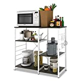 WLIVE Multi-Purpose Wood Kitchen Cart (Black)