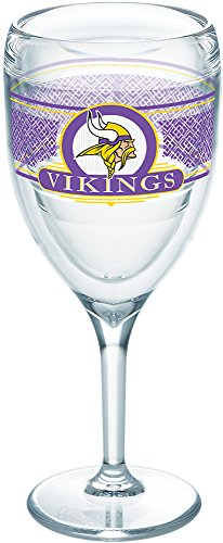 Tervis 1227662 NFL Minnesota Vikings Select Tumbler with Wrap 9oz Wine Glass, Clear
