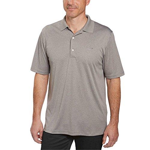 - Greg Norman Signature Series Mens ML75 Play Dry Performance Polo Shirt (Medium, Grey Heather)