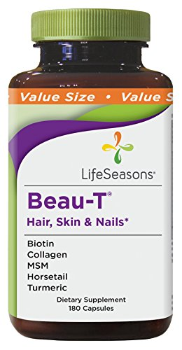 LifeSeasons - Beau-T Hair, Skin, & Nails - Natural Hair, Skin, And Nail Support Supplement - Value Size (180 Capsules) by Life Seasons