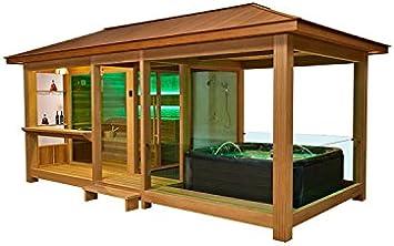 EO de Spa Sauna LT06 rojos Cedro 650 x 350 9 kW Vitra: Amazon.es: Bricolaje y herramientas