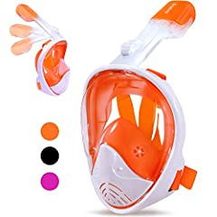 Preparation:Make sure there is no sand on the mask or tube,if there has sand,using water to clear the breathing tube or mask,once the mask is clean then it ready for use.Checking the seal:Pull the straps of the mask over your head and check t...
