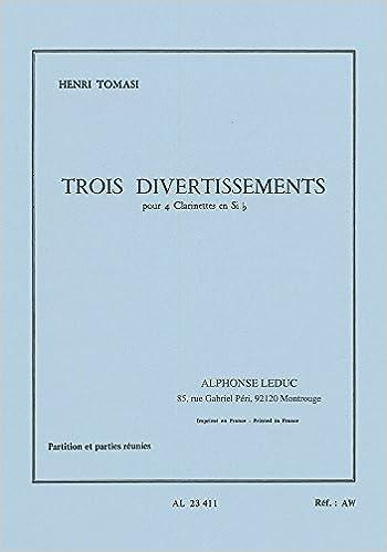 Livres gratuits 3 DIVERTISSEMENTS 4 CLARINETTES SIB PARTITION ET PARTIES epub pdf