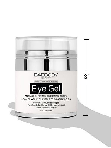 Large Product Image of Baebody Eye Gel for Dark Circles, Puffiness, Wrinkles and Bags - The Most Effective Anti-Aging Eye Gel for Under and Around Eyes. - 1.7 fl. oz.