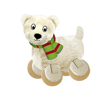 Kong Holiday TenniShoes Peluches Navideños de Perro Oso Polar Pequeño