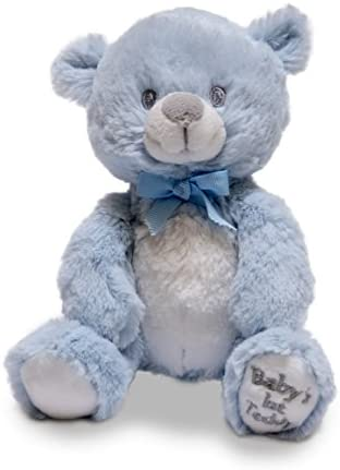 """Plays Lullaby Mary Had a Little... Cuddle Barn Babys First Teddy 6/"""" Squeezers"""