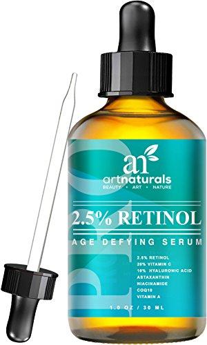 Art Naturals améliorée Sérum rétinol 2,5 % avec 20 % vitamine C & acide hyaluronique 1oz-le meilleur Anti rides, Anti vieillissement sérum pour le visage & sensibles de la peau - clinique force ingrédients biologiques-thérapie de nuit