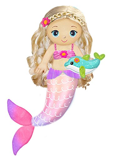 "First & Main 18"" Fantasea Friends Sandie Mermaid Plush Toys, Multicolor"