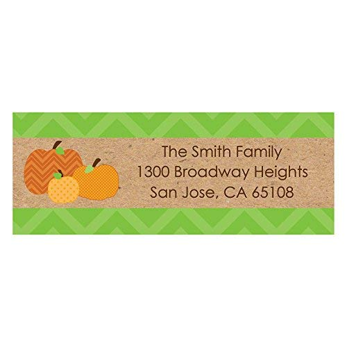 - Personalized Fall & Thanksgiving Party Return Address Labels - Set of 30 ()