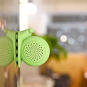Maison Maxx Creative Cute Small Snail Waterproof Wireless Hands-Free Bluetooth Shower Speaker, Portable Water Resistant Speaker with Suction Cup, for iPhone, Android(Green)